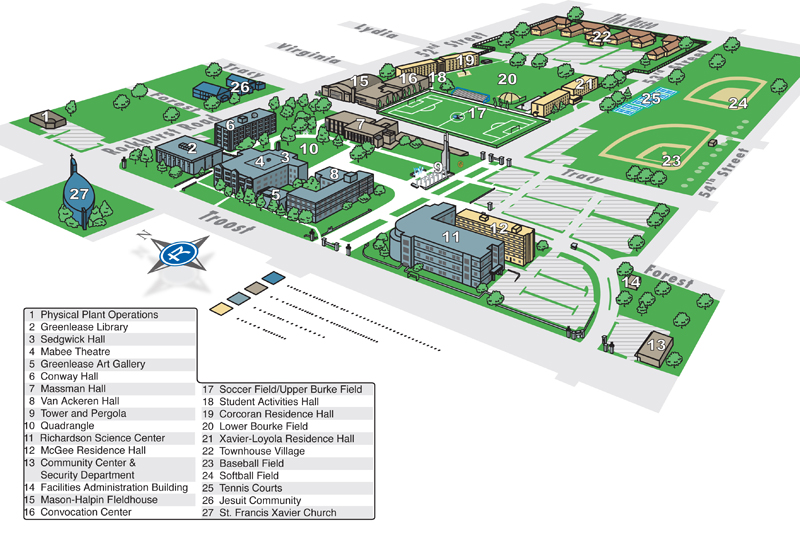 Rockhurst University Campus Map Related Keywords Suggestions